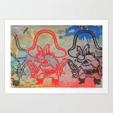 YOSEMITE SAM GRAFFITI Art Print