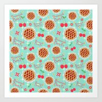 Oh My, Cherry Pie! Art Print