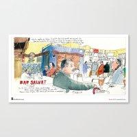 "Swasky, ""Plaça Joan P… Canvas Print"