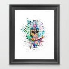 SKULL - WILD SPRIT Framed Art Print