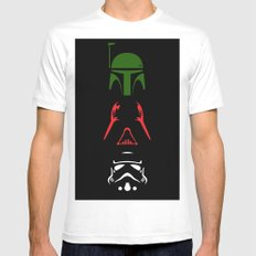 Star Wars Silhouettes Black SMALL Mens Fitted Tee White