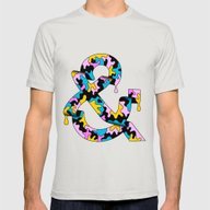 HERM&N Mens Fitted Tee Silver SMALL