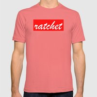 ratchet | Typography Mens Fitted Tee Pomegranate SMALL