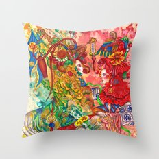 Gemini, The Wonderful Twins: May 22 - Jun 21 / ORIGINAL GOUACHE Throw Pillow