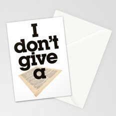 I don't give a sheet - by Genu WORDISIAC™ TYPOGY™ Stationery Cards