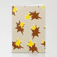 Stars (Brown & Gold On S… Stationery Cards