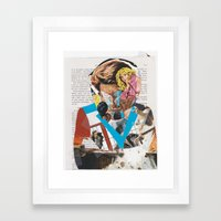 man of action - b-side Framed Art Print