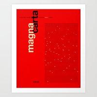 Helvetica Magna Carta Art Print