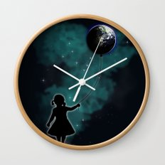 The Girl That Holds The World Wall Clock