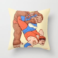 Gorilla Clutch Throw Pillow