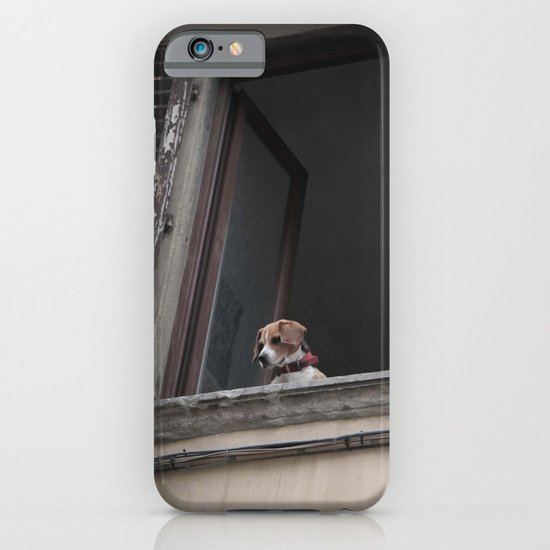 take me with you _ Beagle in a window iPhone & iPod Case