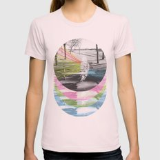 Benched Womens Fitted Tee Light Pink SMALL