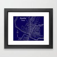 Vintage Austin Blue Framed Art Print