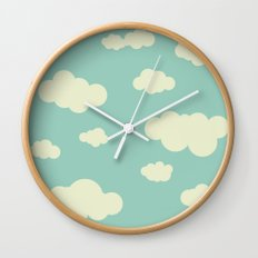 vintage clouds Wall Clock