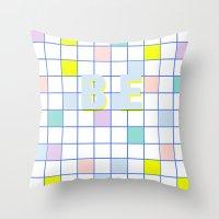 Be Windowpane Grid Throw Pillow