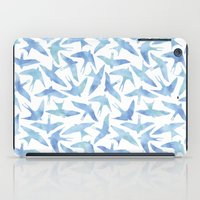 Blue Watercolor Birds iPad Case