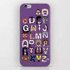 Horror Icon Alphabet iPhone & iPod Skin