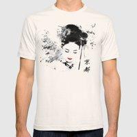 Kyoto Geisha Mens Fitted Tee Natural SMALL