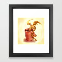 A drink for a dragon Framed Art Print