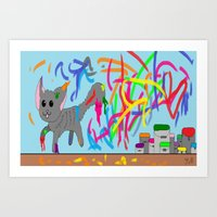 Artistic kitten  Art Print