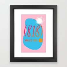 Valley Girl Framed Art Print