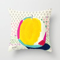 Diamond And Yellow Apple Throw Pillow