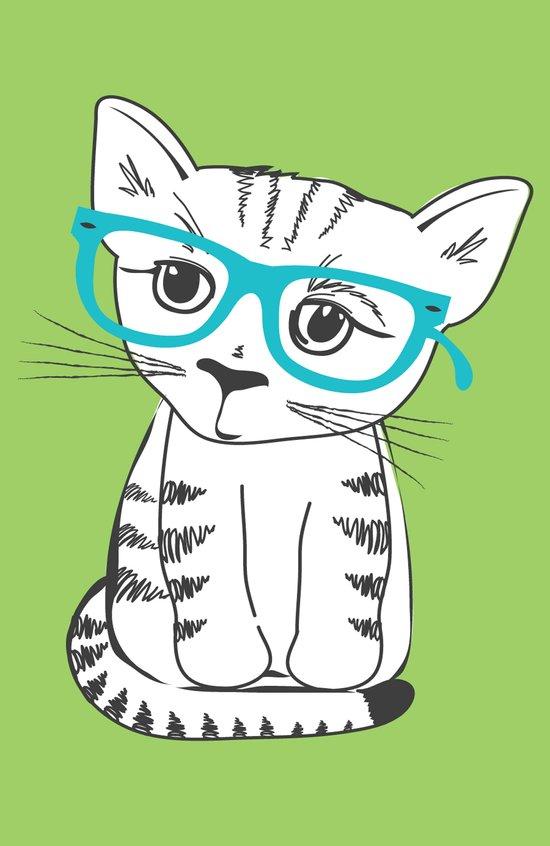Nerdy Kitty Art Print