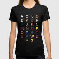 VGC Alphabet Womens Fitted Tee Tri-Black SMALL