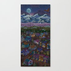 A Town On The Edge Of Ad… Canvas Print