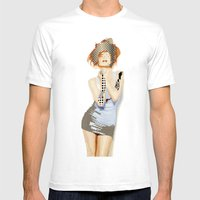 Ruby Mens Fitted Tee White SMALL