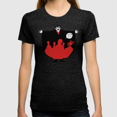 The Master Womens Fitted Tee Tri-Black SMALL