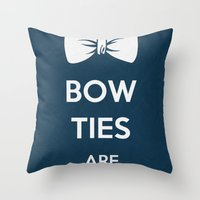 Bow Ties Are Cool Throw Pillow