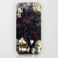 iPhone Cases featuring Red Lights Tree by Jessielee