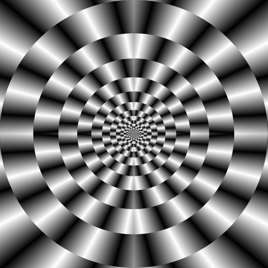 Concentric Rings in Monochrome Art Print
