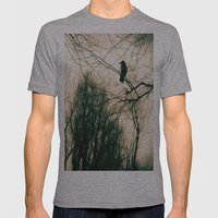 Crow Blur Mens Fitted Tee Athletic Grey SMALL