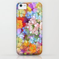 Rainbow Flower Shower iPhone 5c Slim Case