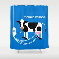 Moloko Vellocet Shower Curtain