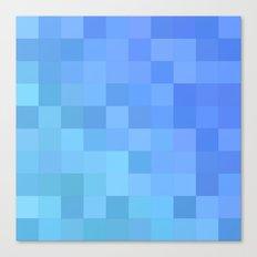 Light blue mosaic Canvas Print