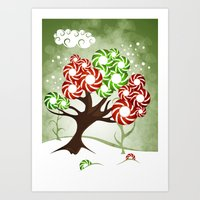 Magic Candy Tree - V2 Art Print