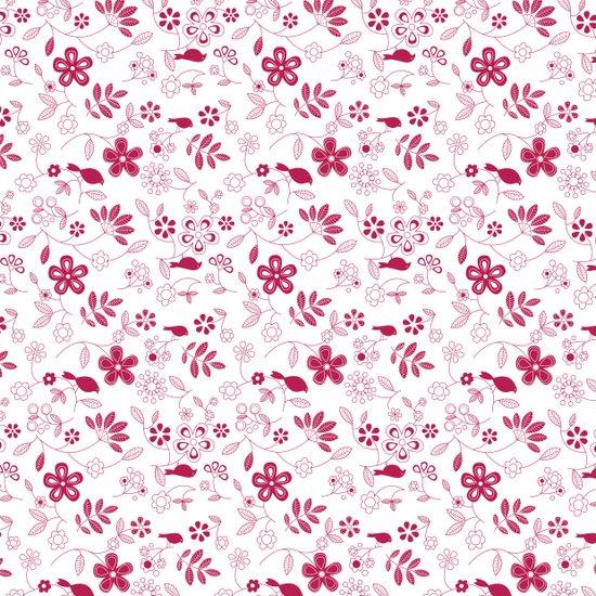birds n flowers V2 Art Print