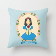 Snow White And Apple Throw Pillow