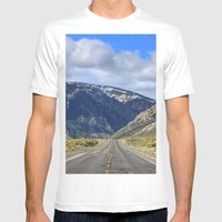 Hills Ahead Mens Fitted Tee White SMALL