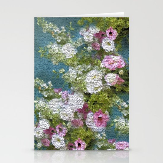 Mosaic Vintage Impressionism- Country Flower Love Joy Stationery Card
