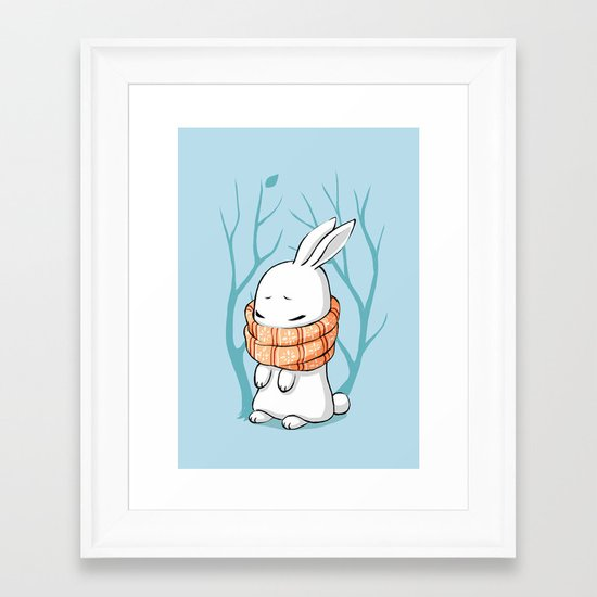 Winter Bunny Framed Art Print