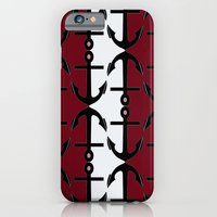 Anchors: Red, Coral and White iPhone 6 Slim Case