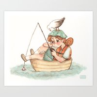 Boater Art Print