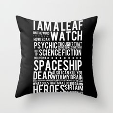 Firefly Subway Poster Throw Pillow