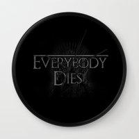 Everybody Dies Wall Clock