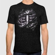 Steampunk Terminator Cyb… Mens Fitted Tee Tri-Black SMALL