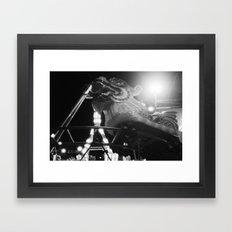 Fire Beast Framed Art Print